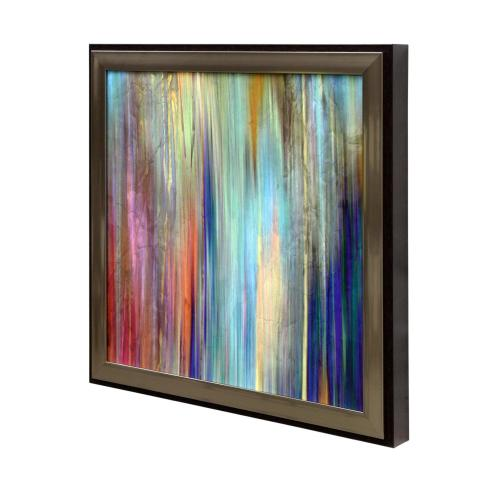 Framed textured print of Sunset Falls II