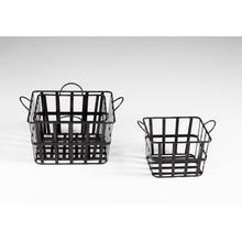 Grocery Baskets S/3 Iron Raw Steel