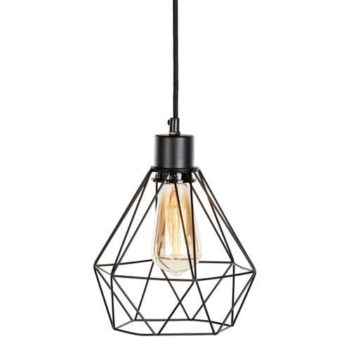 Plog-it - Hanging lamp with geometric shade, Pure Black