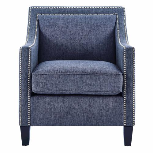 Asheville Blue Linen Chair