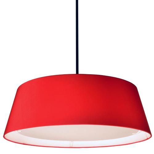 22w LED Tappered Drum Shd, Red