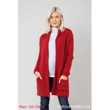 Holiday Cardigan - Red - XS (2 pc. ppk.)