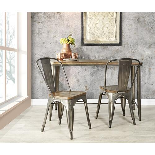 Indio Set With Rectangle Table and 2 Chairs