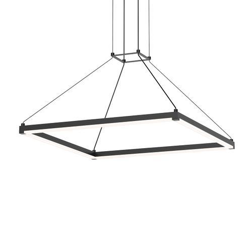 """Sonneman - A Way of Light - Stix Square LED Pendant [Size=24"""", Color/Finish=Satin Black]"""