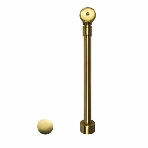 DR290 Push to Seal Bath Waste & Overflow in Brushed Gold