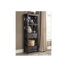 See Details - Tyler Creek Display Cabinet Black/Gray