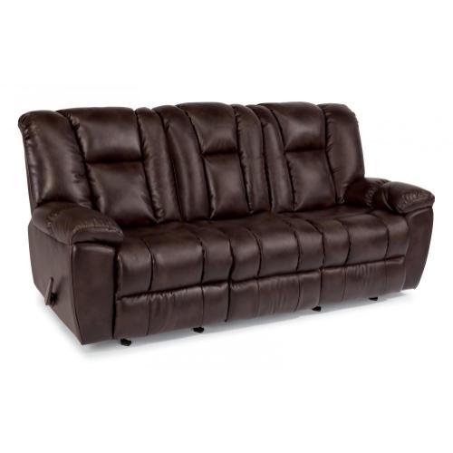 La Crosse Fabric Gliding Reclining Sofa