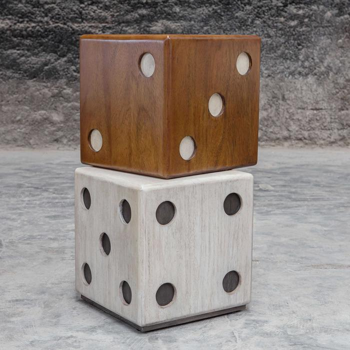 Uttermost - Roll the Dice Accent Table