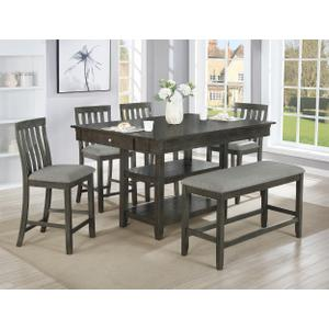 - Nina Counter Ht Table Shelf Grey