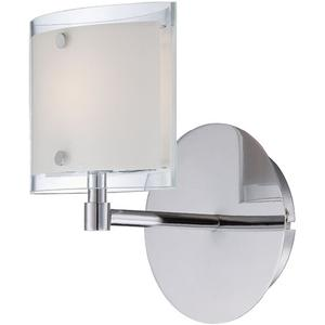 Wall Lamp, Chrome/frost Glass, Type Jcd/g9 40w