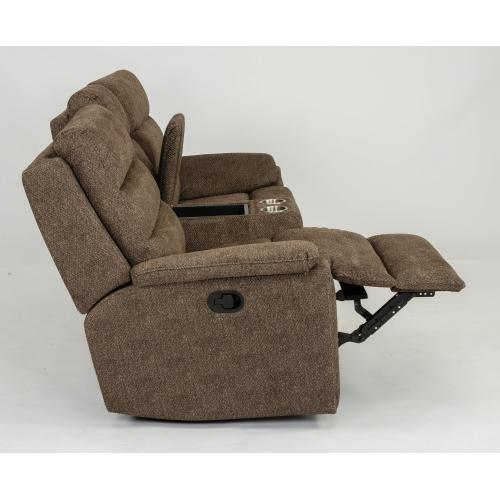 Brooklyn Reclining Loveseat with Console