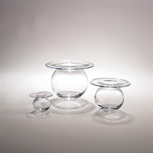 H2O Vase-Clear-Sm