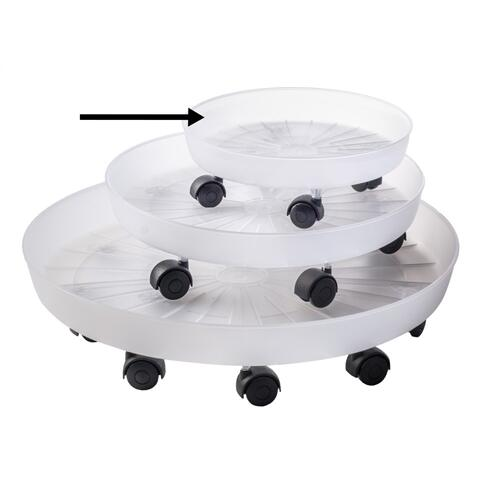 "12.25"" Giada Saucer w/ attached rollers"