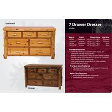 See Details - 7 Drawer Dresser-Traditional