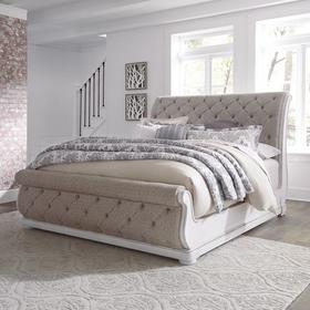 King California Upholstered Sleigh Bed
