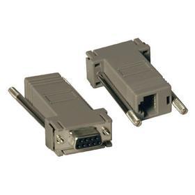 Null Modem Serial DB9 Serial Modular Adapter Kit, 2x (DB9F to RJ45F)