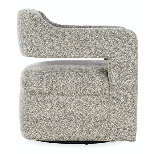Living Room Maleko Swivel Chair - Metal Base