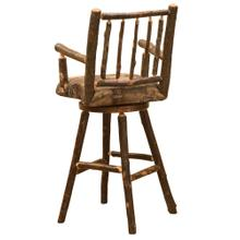 """See Details - Swivel Barstool with Arms - 30"""" high - Natural Hickory - Standard Fabric"""