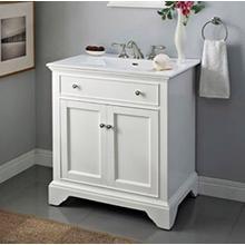 """See Details - Framingham 30"""" Vanity - Polar White"""