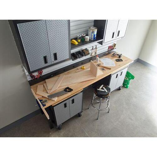 8' Adjustable Height Hardwood Workbench
