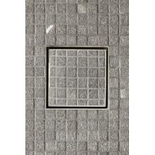 "Universal Tile-in Shower Drain 6"" x 6"" in Burnished Nickel"