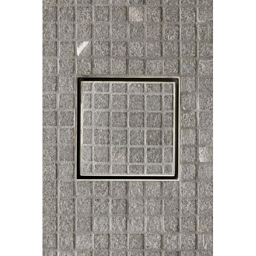 "Universal Tile-in Shower Drain 6"" x 6"" in Brass"