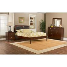 Metro 4pc Cherry Bedroom with Martin Queen Platform Bed
