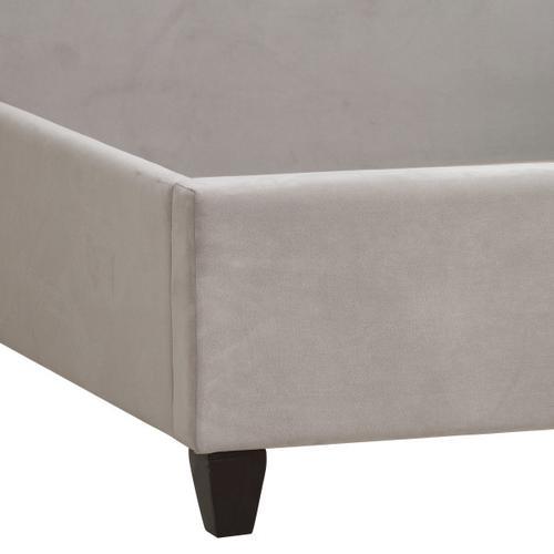 Accentrics Home - Tufted Welt Upholstered Queen Headboard in Grey Velvet