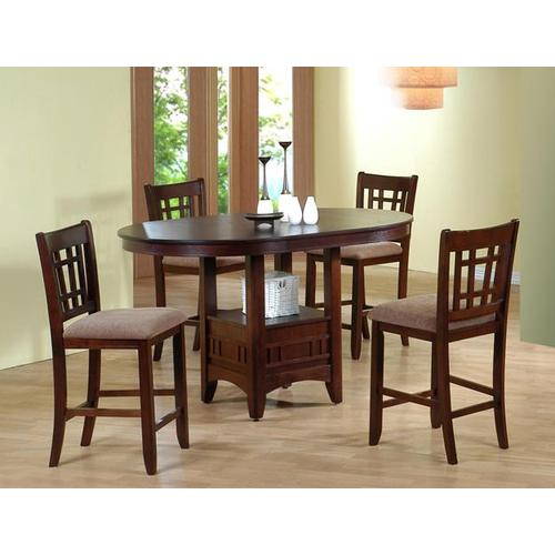 Crown Mark - Empire Counter Height Table with 4 Chairs