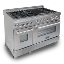 ZLINE 48 in. Professional Dual Fuel Range in DuraSnow® Stainless with DuraSnow® Stainless Door (RAS-SN-48)