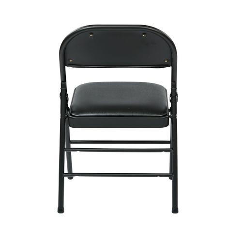 Folding Chair With Vinyl Seat and Back