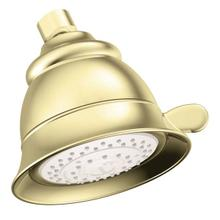 "Moen polished brass four-function 4-13/16"" diameter spray head"