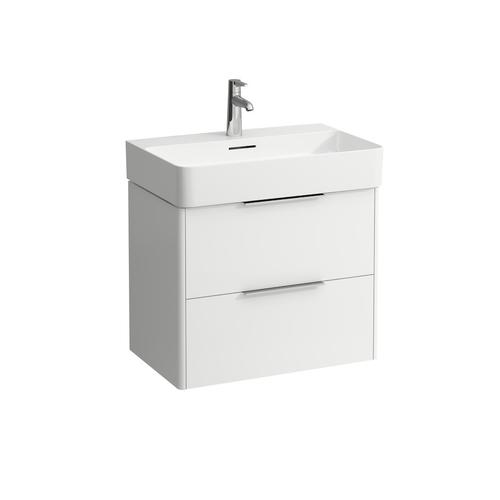 White Matte Washbasin Console
