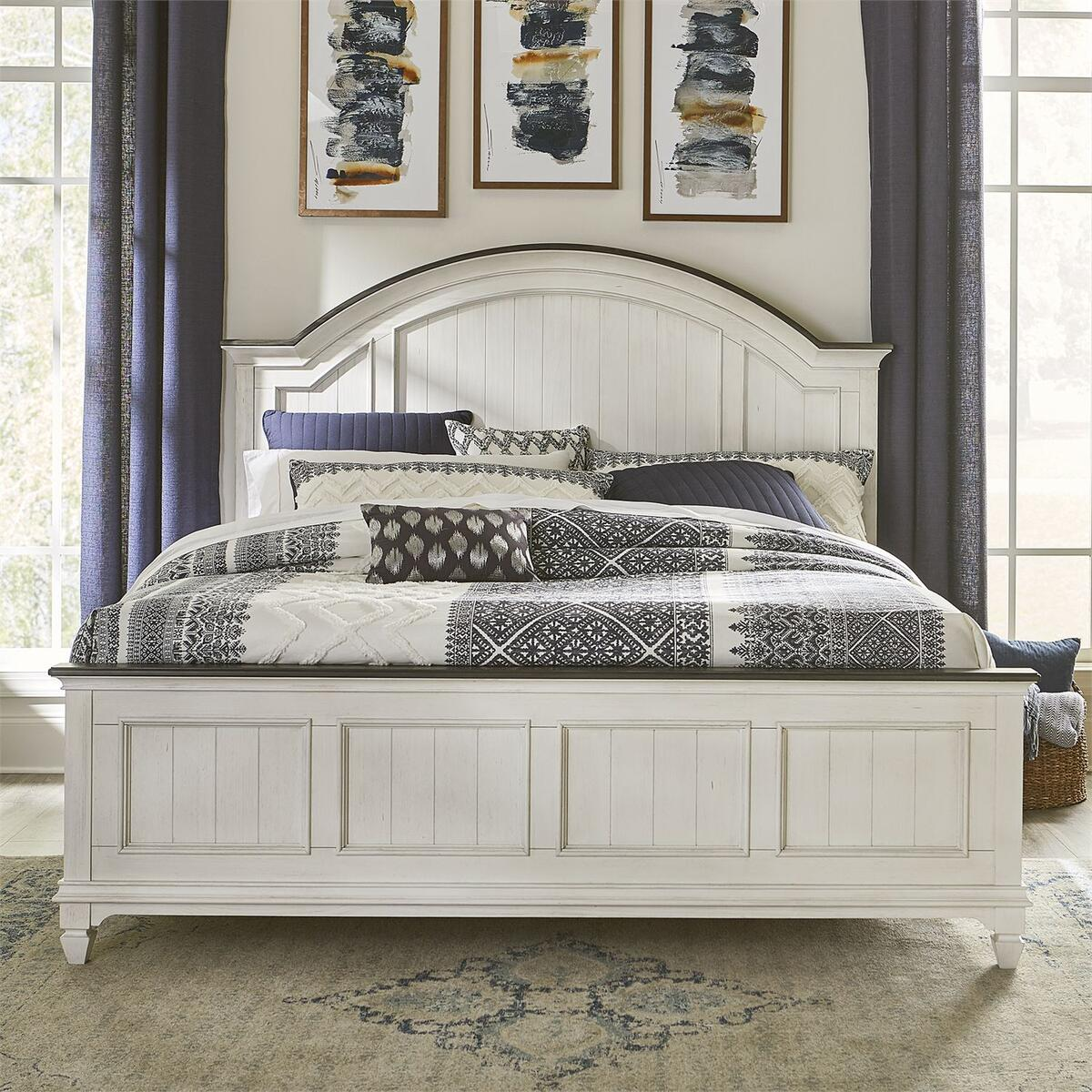 King Arched Panel Bed