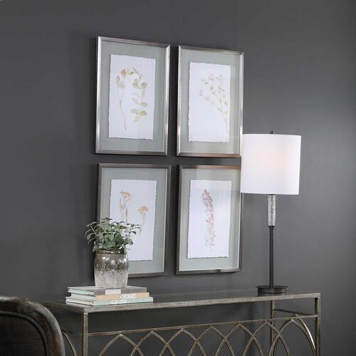 Flourish Framed Prints, S/4