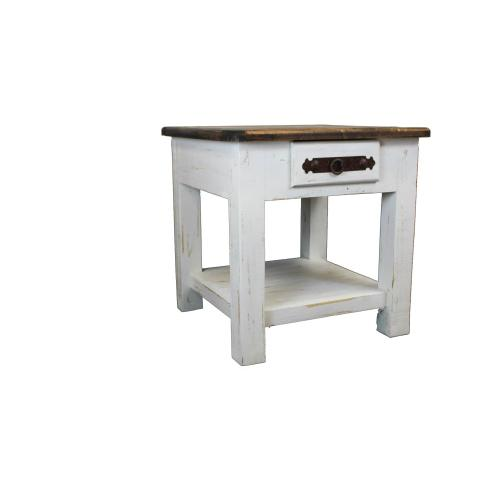 Campo White End Table