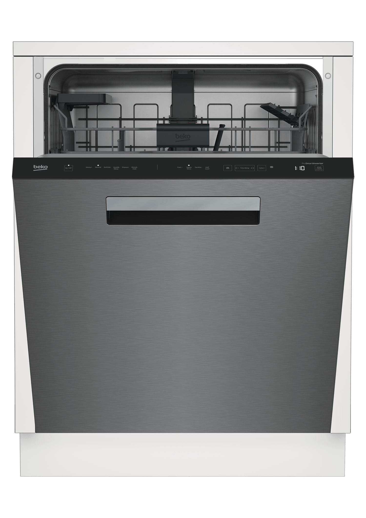 Tall Tub Stainless Dishwasher, 14 place settings, 45 dBa, Top Control with Pocket Handle