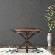 Hanover Annecy 45-In. Round Mango Wood Dining Table with Trestle Base, HDR005-WB