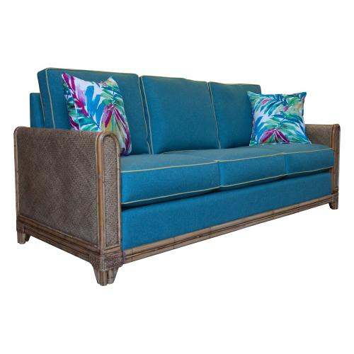 Capris Furniture - 3 over 3 Convo-Lux seat cushion Queen Sleeper w/Classic Natural finish.