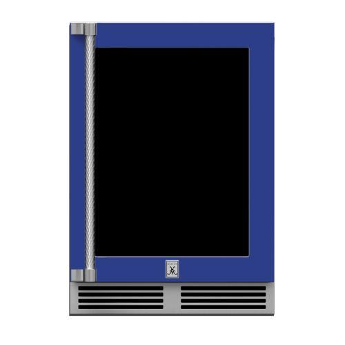 "24"" Hestan Outdoor Dual Zone Refrigerator with Wine Storage (UV-Coated Glass Door) - GRWG Series - Prince"