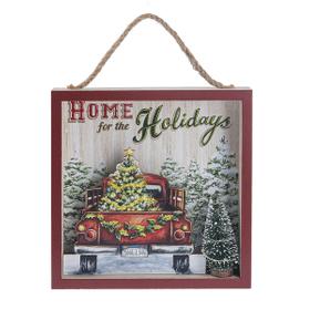 Light Up Box Plaque - Home for the Holidays