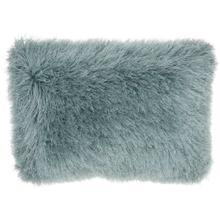 "Shag Tl004 Celadon 14"" X 20"" Throw Pillow"