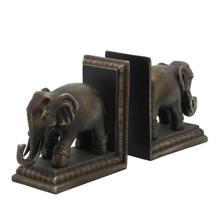 Product Image - S/2 Polished Elephant Bookends