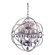 Geneva 5 light Polished nickel Pendant Silver Shade (Grey) Royal Cut crystal