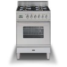 "24"" Professional Plus Series Freestanding Single Oven Gas Range with 4 Sealed Burners in Stainless Steel"
