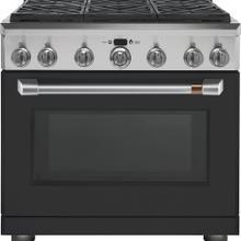 "Café 36"" All Gas Professional Range with 6 Burners Matte Black"