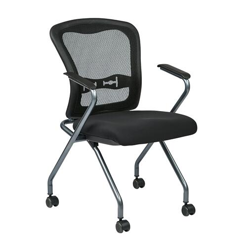 Deluxe Folding Chair With Progrid Back 2/ctn