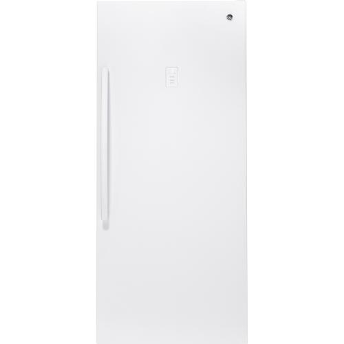GE 21.3 Cu. Ft. Frost Free Upright Freezer White FUF21DLRWW