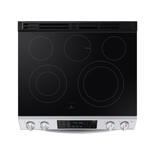6.3 cu. ft. Front Control Slide-In Electric Range with Convection & Wi-Fi in Stainless Steel