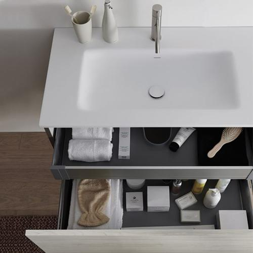 """51 collection series 1200 wall-mount vanity, HST White gloss 47 1/4"""" w x 19"""" h x 20 1/4"""" d"""
